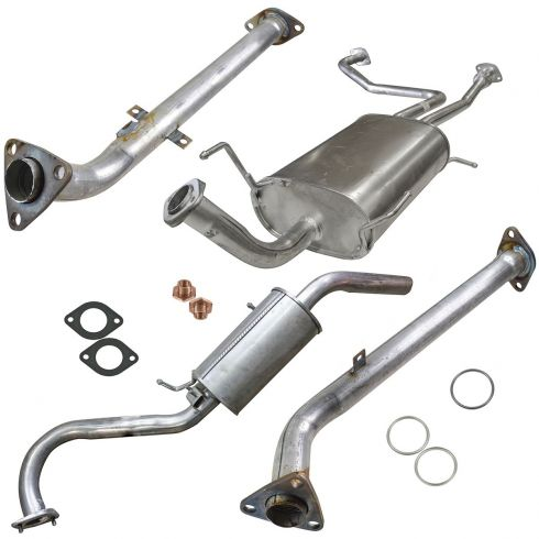 96-00 Nissan Pathfinder; QX4 Fed Em; 97 Path QX4 Cal Cat Back Exhaust System