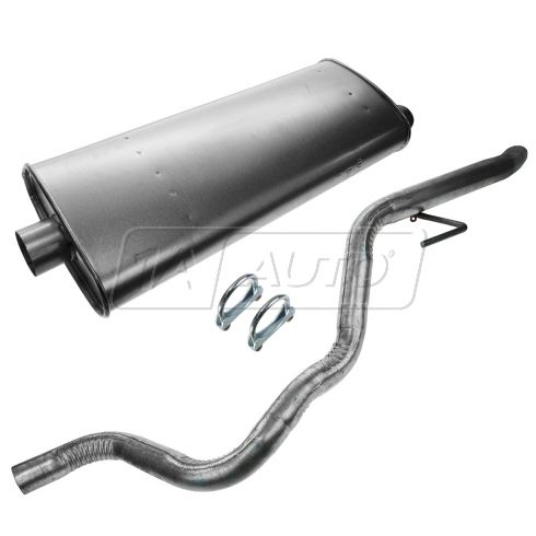 02-04 Jeep Grand Cherokee w/4.0L, 4.7L Muffler, Tailpipe, & Clamp Kit