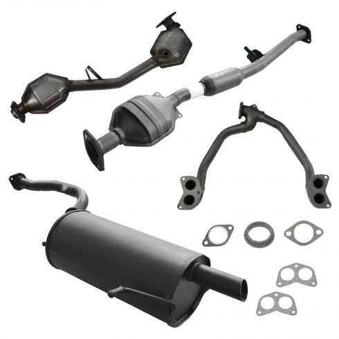 02-04 Subaru Impreza Sedan Complete Exhaust System with Catalytic Converter for 2.5L
