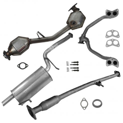 99-02 Subaru Forester Complete Exhaust System with Catalytic Converter for 2.5L