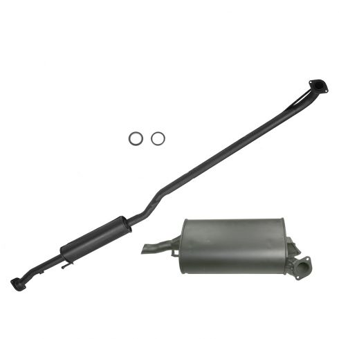 97-99 Toyota Camry 2.2L Muffler Exhaust Pipe System Kit w/Gaskets