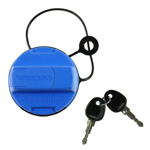 10-12 Volvo All Heavy Duty Trucks Locking Diesel Emissions Fluid Tank Filler Cap w/Keys