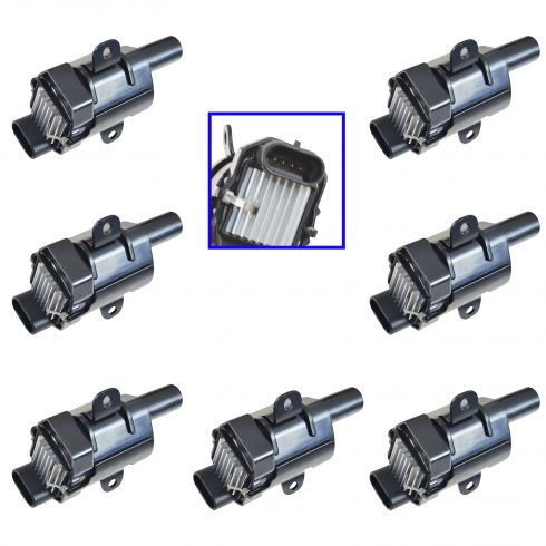 1999-07 Buick Cadillac Chevy Hummer Isuzu Ignition Coil (ID 19005218) (SET of 8)