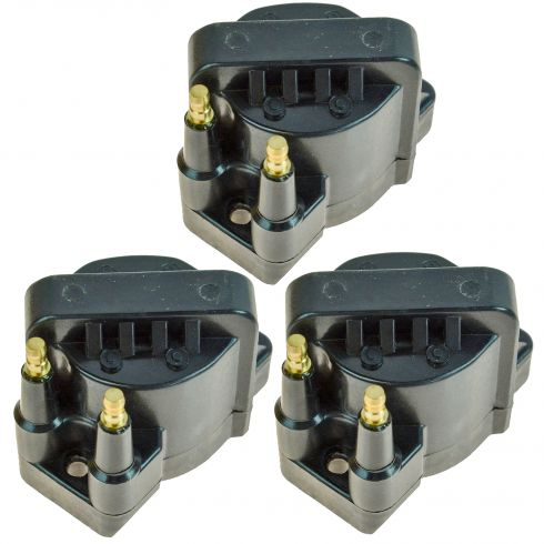 86-05 GM Style Ignition Coil for 6 Cyl (Set of 3)
