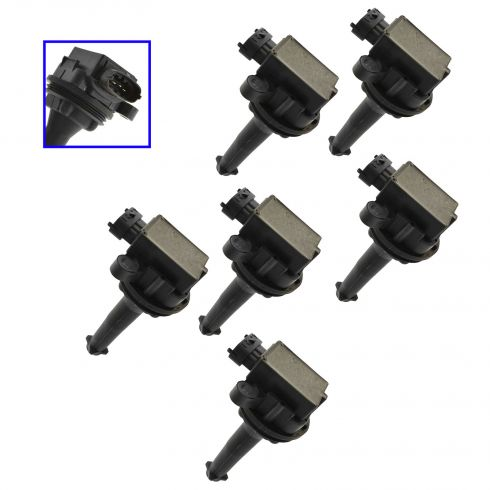 99-07 Volvo C V S 60 70 80 XC90 2.4L 2.5L Ignition Coil Set of 6