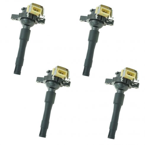 95-03 BMW 3, 5, 7, 8, X, Z Series Plug Mounted Ignition Coil Set of 4