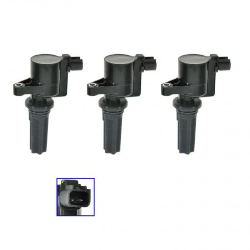 00-03 Jaguar S-Type, 00-05 Lincoln LS 3.0L Ignition Coil Set of 3