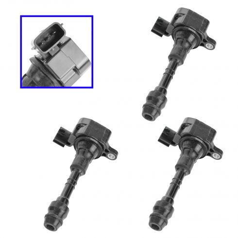 02-11 Nissan 3.5L Ignition Coil with Spark Plug Boot Set of 3