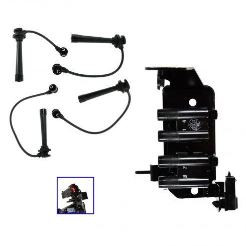 Kia Rio Spark Plug Wire & Coil Set (Auto 7)