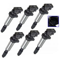 01-14 BMW; 07-14 Mini Multifit (Bosch Style) Ignition Coil Set of 6(Delphi)