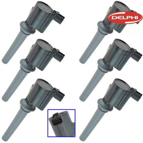 01-08 Esc 05-07 50, Frestyle 00 04-05 Tarus 03-08 6 02-06 MPV 05-08 Mrnr 3.0 Ign Cl Set of 6(DE)