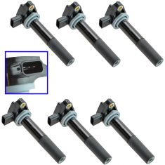 99-09 Acura CL, MDX, RL, TL; 99-10 Honda Multifit; 04-07 Vue 6 Piece Ignition Coil Set (Delphi)