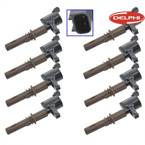 08-13 Expdtn, Nav; 08-10 Explr, F150, Mstng; 08 LT (w/4.6L, 5.4L &) Ignition Coil Set of 8 (DE)