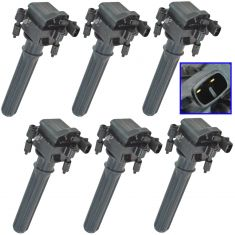 98-06 Chrysler, Dodge Multifit w/3.2L, 3.5L Ignition Coil Set of 6(Delphi)