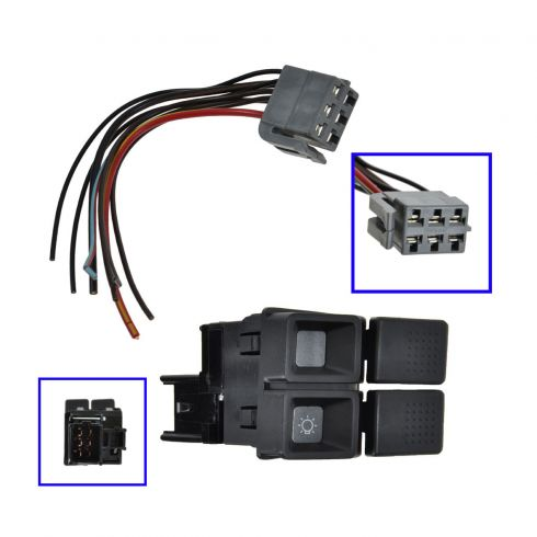 Headlight Switch with Plug & Wiring Pigtail for Models (without Fog Lights)