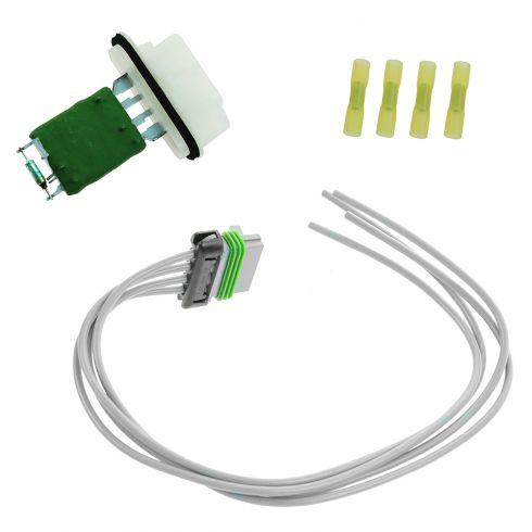 04-08 Chevy Colorado, GMC Canyon; 03-06 SSR (w/o Auto AC) Blower Motor Resistor w/Plug & Pigtail Kit