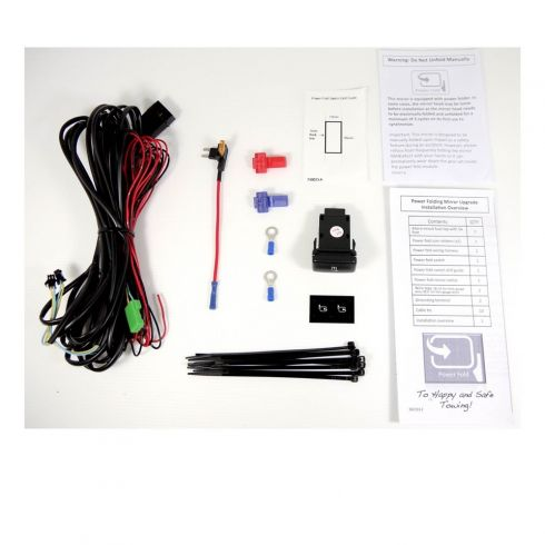 04-14 Ford F150 Power Folding Mirror Switch w/Wiring Harness Upgrade Installation Kit for CC Mirrors