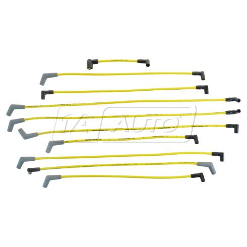 84-93 Ford, Lincoln, Mercury Multifit w/5.0L, 5.8L (9MM YELLOW) Spark Plug Wire Set (Ford Racing)