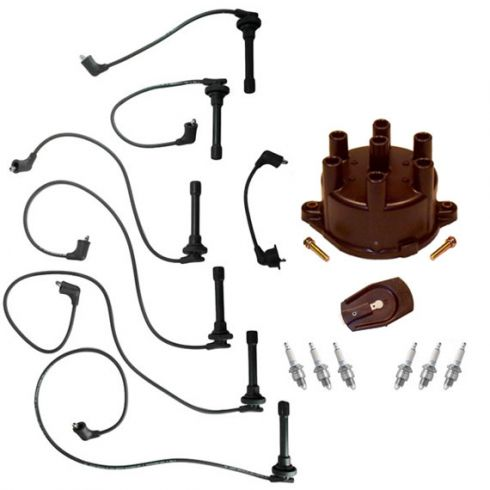 1995-97 Honda Accord Complete Engine Tune Up Kit (Wire, Plugs, Cap, & Rotor)