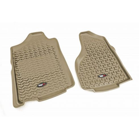 02-11 Dodge Ram 1500; 03-11 2500, 3500 w/1 Hook Tan Front Floor Liner SET (Rugged Ridge)