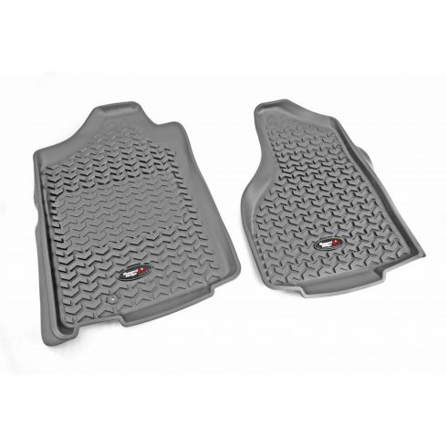02-11 Dodge Ram 1500; 03-11 2500, 3500 w/1 Hook Gray Front Floor Liner SET (Rugged Ridge)