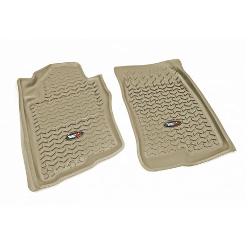 05-12 Nissan Pathfinder; 05-13 Xterra Tan Front Floor Liner SET (Rugged Ridge)