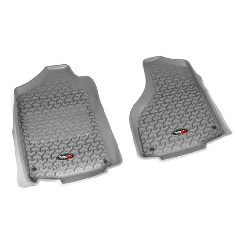 12-14 Dodge Ram 1500-3500 w/Reg & Quad Cab Gray Front Floor Liner SET (Rugged Ridge)