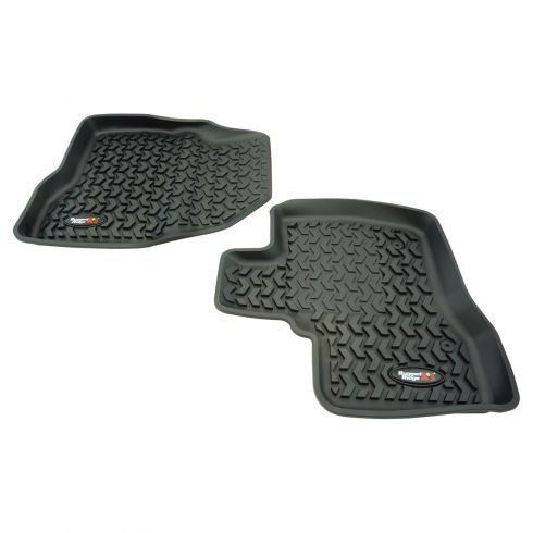 11-14 Ford Explorer Black Front Floor Liner SET (Rugged Ridge)