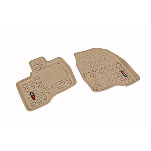 11-14 Ford Explorer Tan Front Floor Liner SET (Rugged Ridge)