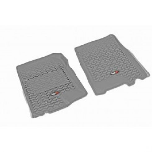01-03 F150 Supercrew; 97-02 Exptn; 98-02Navi; 02-03 Blckwd Gray Frnt Floor Liner SET (Rugged Ridge)