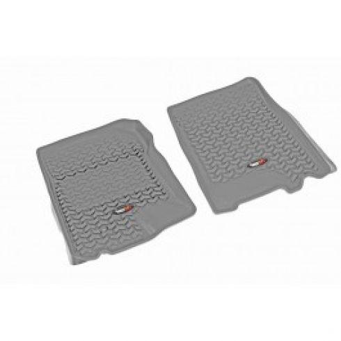 01-03 F150 Supercrew; 97-02 Exptn; 98-02Navi; 02-03 Blckwd Gray Frnt Floor Liner SET (Rugged Ridge)
