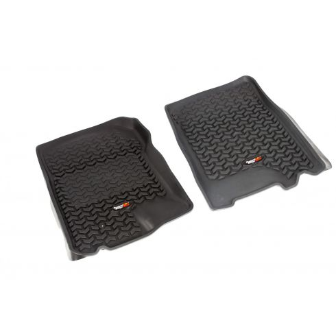 01-03 F150 Supercrew; 97-02 Exptn; 98-02Navi; 02-03 Blkwd Blck Front Floor Liner SET (Rugged Ridge)