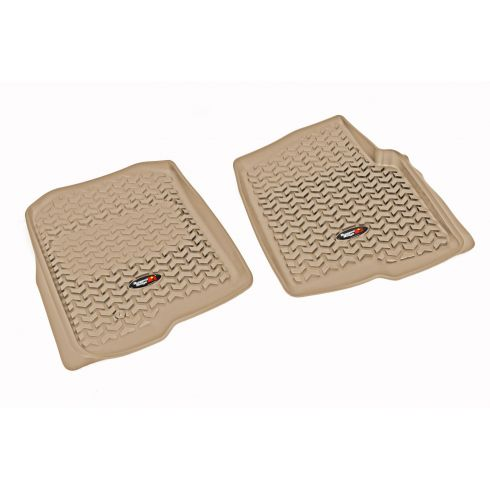 04-08 Ford F150 Tan Front Floor Liner SET (Rugged Ridge)