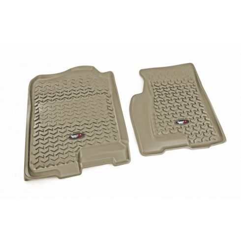 99-06 GM Fullsize Pickup & SUV Tan FrontFloor Liner SET (Rugged Ridge)