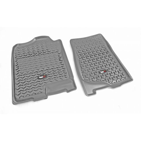 07-14 GM Fullsize Pickup & SUV Gray Front Floor Liner SET (Rugged Ridge)