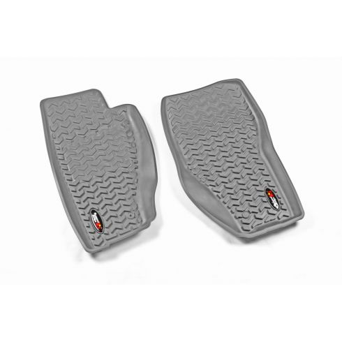 08-13 Jeep Liberty Gray Front Floor Liner SET (Rugged Ridge)