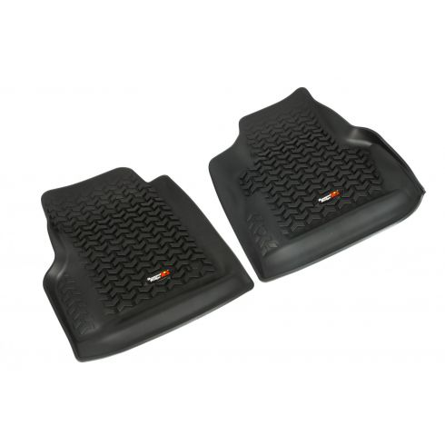 97-06 Jeep Wrangler Black Front Floor Liner SET (Rugged Ridge)