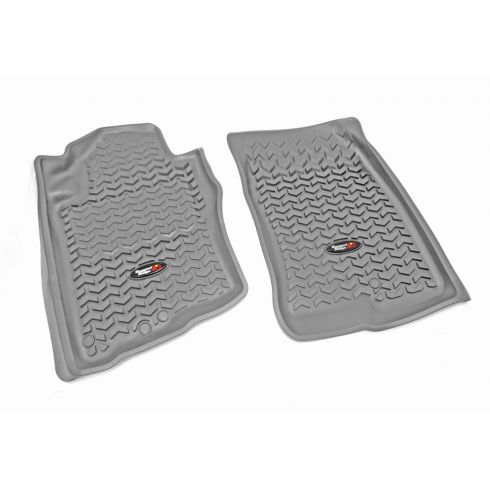 05-12 Nissan Pathfinder; 05-13 Xterra Gray Front Floor Liner SET (Rugged Ridge)