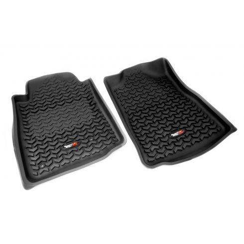 05-11 Toyota Tacoma w/AT & Std Hook Black Front Floor Liner SET (Rugged Ridge)
