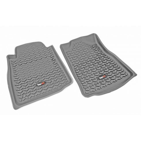 05-11 Toyota Tacoma w/AT & Std Hook GrayFront Floor Liner SET (Rugged Ridge)