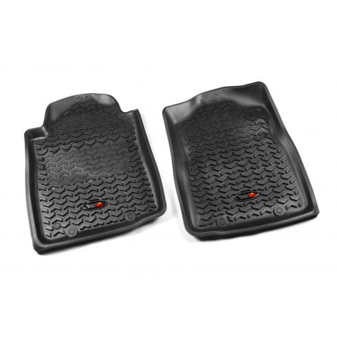 12-14 Toyota Tacoma w/AT & Twist Hook Black Front Floor Liner SET (Rugged Ridge)