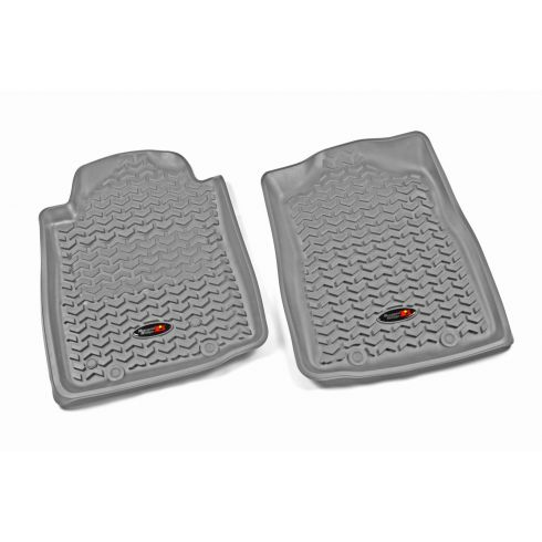 12-14 Toyota Tacoma w/AT & Twist Hook Gray Front Floor Liner SET (Rugged Ridge)