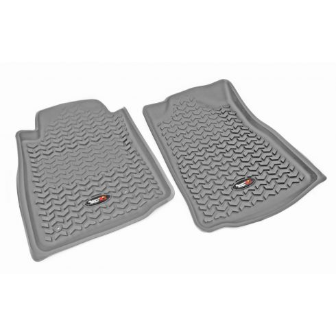 07-11 Toyota Tundra; 08-11 Sequoia w/StdHook Gray Front Floor Liner SET (RuggedRidge)