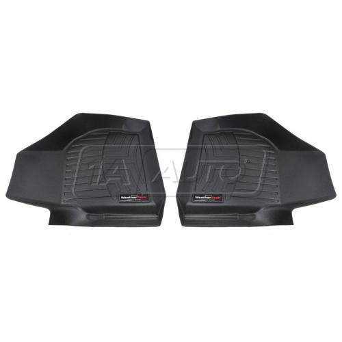 Black Ford Super Duty 2008+ w/o Manual Transfer CaseFront Floor Liner