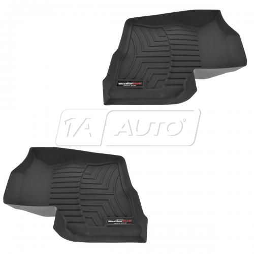 2009 - 2011 Ford F150 Front FloorLiner with Post Mat Retention Gray