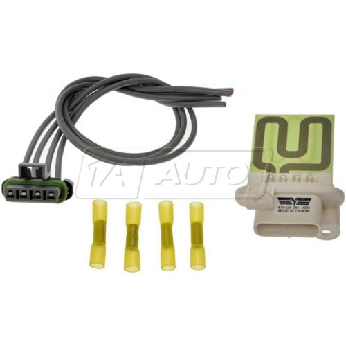96-13 Chevy Express, GMC Savana Auxillary Heater Blower Motor Resistor Kit with Harness (Dorman)