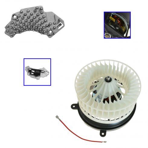 98-02 Mercedes Benz CLK320; 99-02 CLK430 Heater Blower Motor w/Cage & Resistor