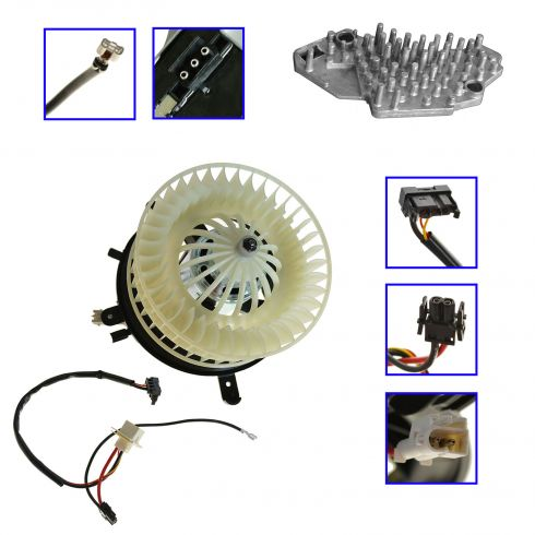 96-03 Mercedes Benz E-Class W210 Blower Motor w/Fan Cage & Resistor Kit