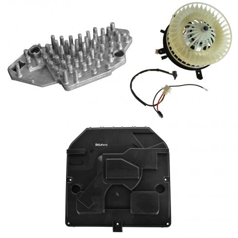 96-99 Mercedes Benz E-Class W210 Updated Blower Motor w/Fan Cage & Resistor Kit