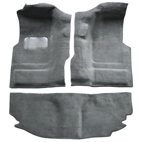 04-06 Jeep Wrangler Passenger Area Carpet 879A Dark Slate